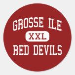 Grosse Ile - Red Devils - Middle - Grosse Ile Sticker
