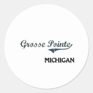 Grosse Pointe Michigan City Classic Classic Round Sticker