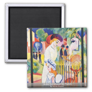 Großer Zoological Garden Triptych By Macke August Magnet