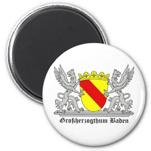 Großherzogthum bañada con escritura imán redondo 5 cm