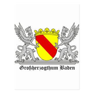 Großherzogthum bañada con escritura postal