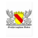 Großherzogthum bañada con escritura tarjeta postal