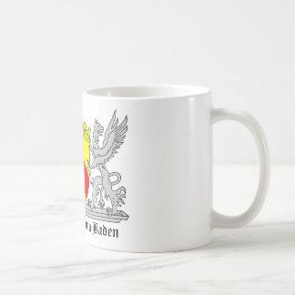 Großherzogthum bañada con escritura taza de café