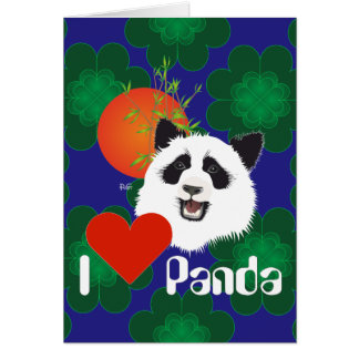 Grossr panda (Ailuropoda melanoleuca) with saying Card