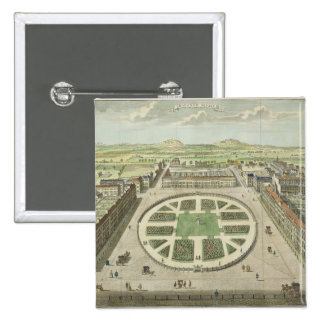 Grosvenor Square, for 'Stow's Survey of London', p Pinback Buttons