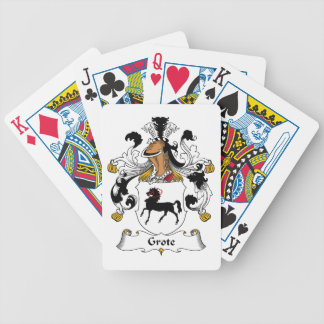 Grote Family Crest Bicycle Playing Cards