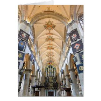 Grote Kerk, Breda, los Países Bajos Tarjeton