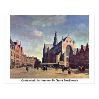 Grote Markt In Haarlem By Gerrit Berckheyde Postcard