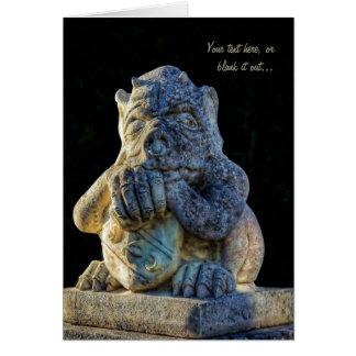 ¡Grotesque de cuernos, agarrado y cuidadoso - Tarjeta De Felicitación