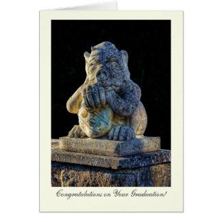 Grotesque de cuernos - enhorabuena en la tarjeta de felicitación