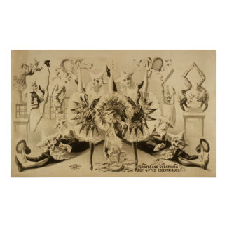 Grotesque Gyrations Act VAUDEVILLE Poster