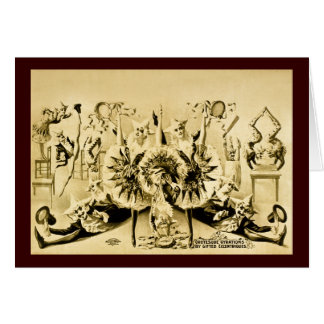 Grotesque Gyrations by Gifted Eccentriques 1900 Card