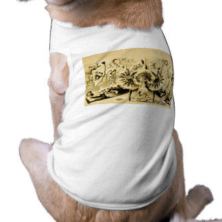 Grotesque Gyrations by Gifted Eccentriques 1900 Pet Shirt