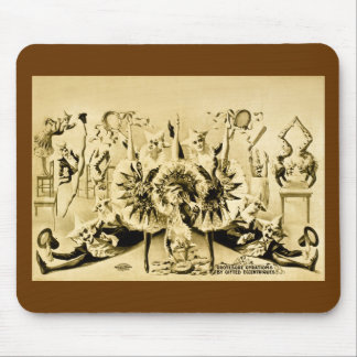 Grotesque Gyrations by Gifted Eccentriques 1900 Mouse Pad