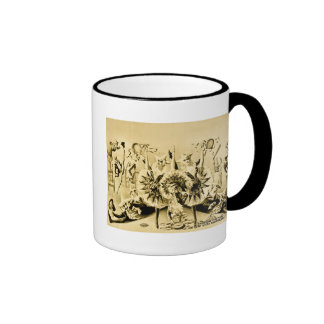Grotesque Gyrations by Gifted Eccentriques 1900 Ringer Coffee Mug