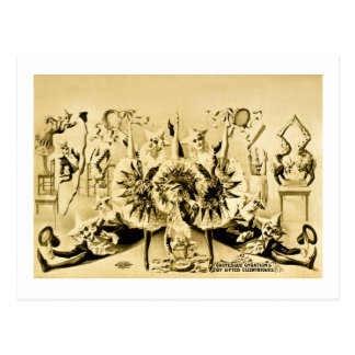 Grotesque Gyrations by Gifted Eccentriques 1900 Postcard