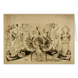 Grotesque Gyrations by Gifted Eccentriques Retro T Card