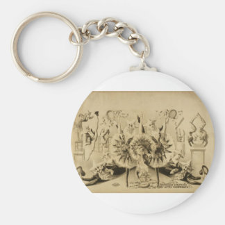 Grotesque Gyrations by Gifted Eccentriques Retro T Key Chains