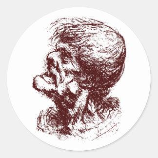 grotesque man 2 stickers