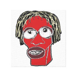 Grotesque Man Caricature Illustration Canvas Print