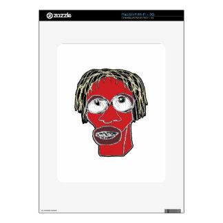 Grotesque Man Caricature Illustration iPad Skin