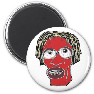 Grotesque Man Caricature Illustration Magnet