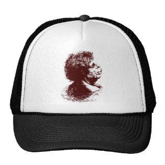 grotesque man trucker hat