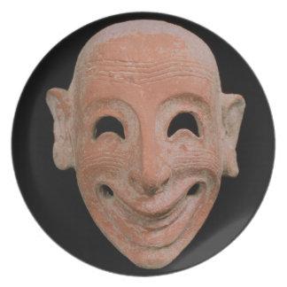 Grotesque mask, from Motya, 6th century BC (terrac Melamine Plate