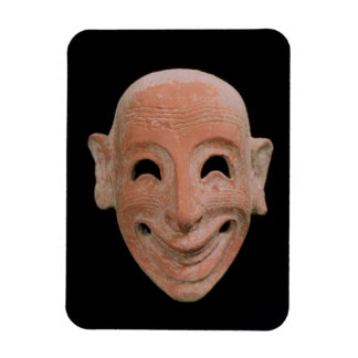 Grotesque mask from Motya 6th century BC terrac Flexible Magnet