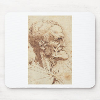 Grotesque profile mouse pad
