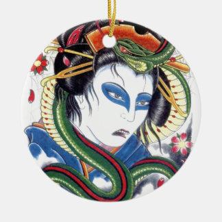 Grotesque & Snake Ceramic Ornament