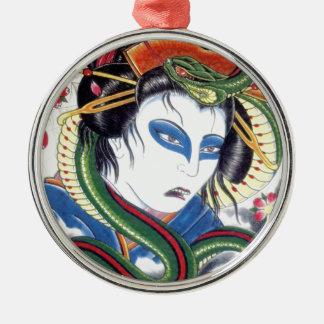 Grotesque & Snake Metal Ornament