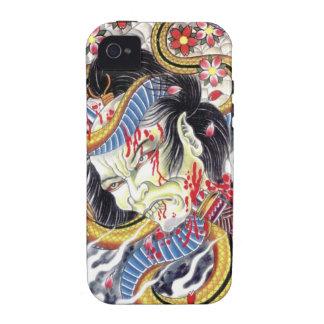 Grotesque & Snake Tattoo Design iPhone 4/4S Case