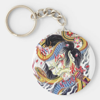 Grotesque & Snake Tattoo Design Keychains