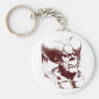 grotesque woman key chain