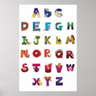 Grotke Alphabet Cats Poster