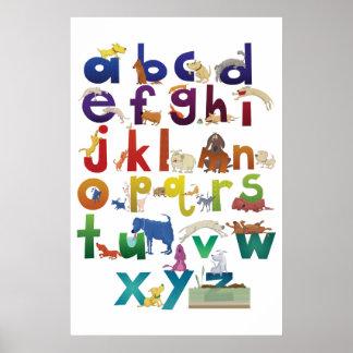 Grotke Alphabet Dogs Poster