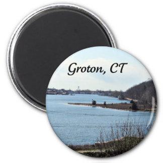 Groton, Connecticut, río místico Iman Para Frigorífico