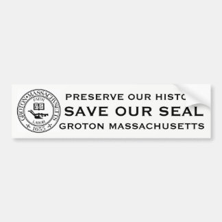 Groton, Mass Save our Seal Bumper Sticker