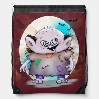 GROTOV cute ALIEN CARTOON Drawstring Backpack