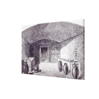 Grotta Campana at the time of its discovery Gallery Wrap Canvas