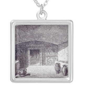 Grotta Campana at the time of its discovery Silver Plated Necklace