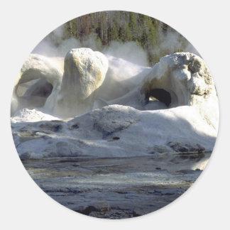 Grotto Geyser, Upper Geyser Basin, Yellowstone Nat Stickers