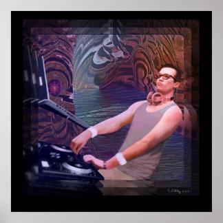 """Grotto"" poster -- American artist E T Filley"