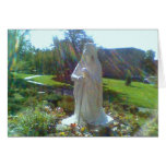 Grotto w/ St. Bernadette Greeting Card