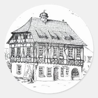 Grötzingen Rathaus City Hall Classic Round Sticker