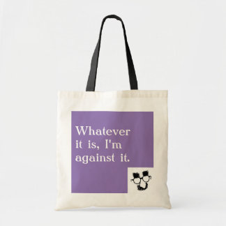 """Grouch Marx """"Against It"""" Tote"""