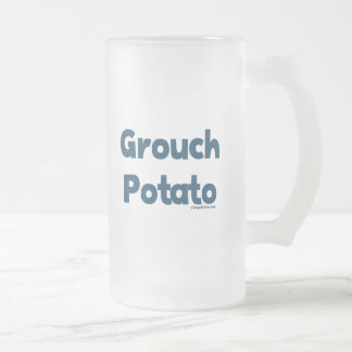 Grouch Potato Frosted Glass Beer Mug