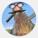 Groucho Chicken Round Stickers