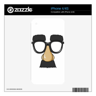 Groucho Glasses (a.k.a. the Beaglepuss) Skin For iPhone 4
